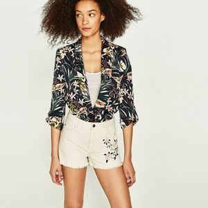 Women's Zara Floral Embroidered High-rise Cotton